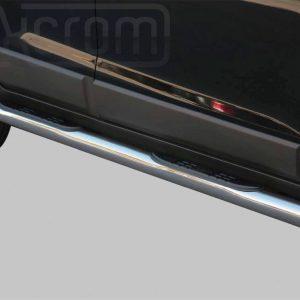Chevrolet Captiva 2006 2010 - Csőküszöb, műanyag betéttel - mt-178