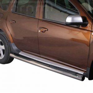 Dacia Duster 2010 2017 - Csőküszöb, műanyag betéttel - mt-178