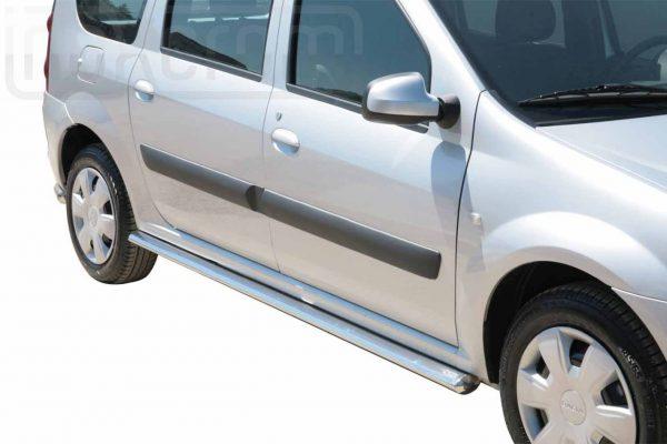 Dacia Logan Mcv 2009 2015 - oldalsó fellépő ovális csőből - mt-302