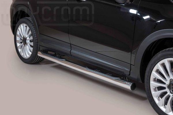 Fiat 500 X 2015 - Csőküszöb, műanyag betéttel - mt-178