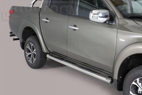 Fiat Fullback 2016 - Csőküszöb, műanyag betéttel - mt-178