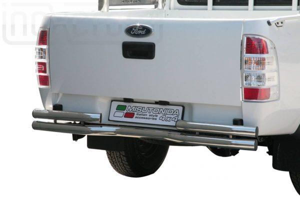 Ford Ranger Double Cab 2007 2009 - Dupla csöves hajlított hátsó lökhárító - mt-105