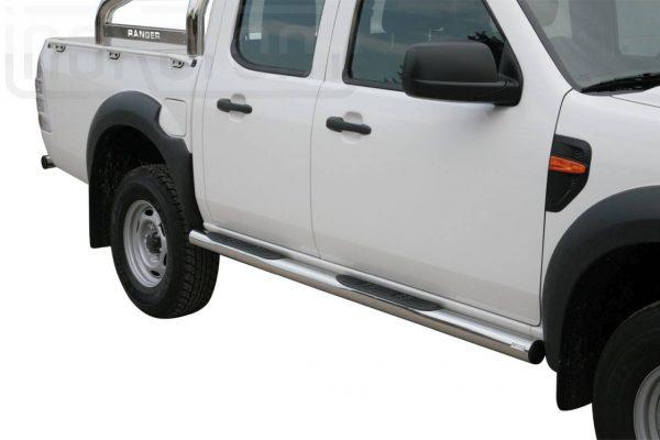 Ford Ranger Double Cab 2009 2011 - Csőküszöb, műanyag betéttel - mt-178