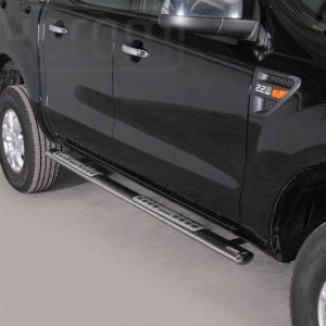 Ford Ranger Double Cab 2012 2015 - ovális oldalfellépő betéttel - mt-111