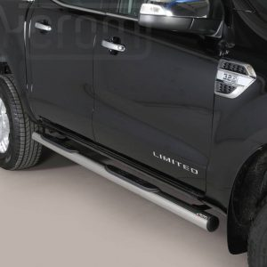 Ford Ranger Double Cab 2016 2018 - Csőküszöb, műanyag betéttel - mt-178