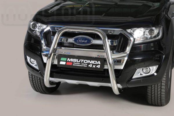 Ford Ranger Double Cab 2016 2018 - EU engedélyes Gallytörő rács - magasított - mt-214