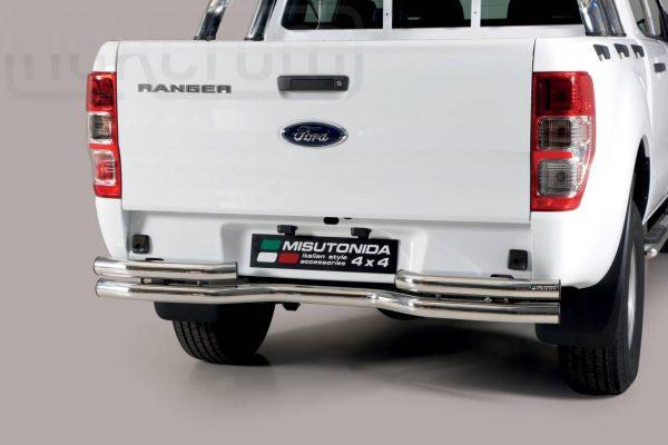 Ford Ranger Double Cab 2019 - Dupla csöves hajlított hátsó lökhárító - mt-106