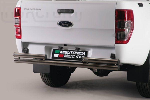 Ford Ranger Single Cab 2012 - Dupla csöves hátsó lökhárító - mt-101