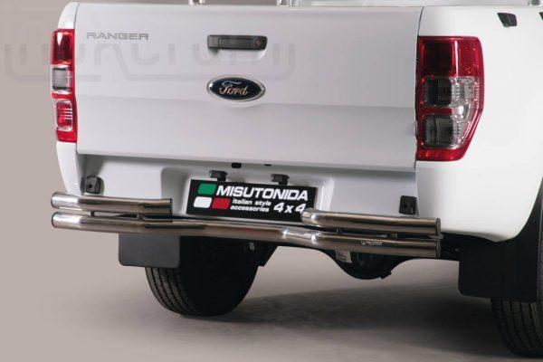 Ford Ranger Single Cab 2012 - Dupla csöves hajlított hátsó lökhárító - mt-105