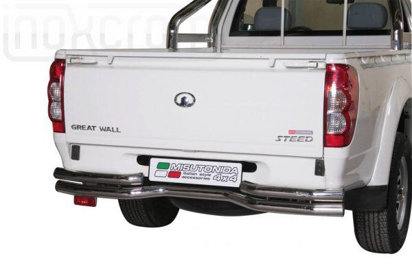 Great Wall Steed Wingle Single Cab 2010 2011 - Dupla csöves hajlított hátsó lökhárító - mt-105