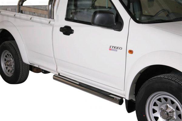 Great Wall Steed Wingle Single Cab 2010 2011 - Csőküszöb, műanyag betéttel - mt-178