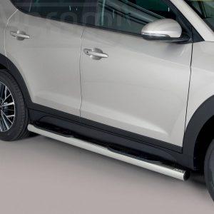 Hyundai Tucson 2018 - Csőküszöb, műanyag betéttel - mt-178