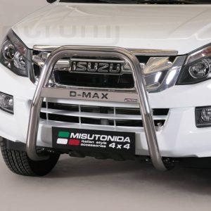 Isuzu D Max Double Cab 2012 2016 - EU engedélyes Gallytörő rács - magasított feliratos - mt-218