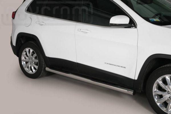 Jeep New Cherokee 2014 - Csőküszöb, műanyag betéttel - mt-178