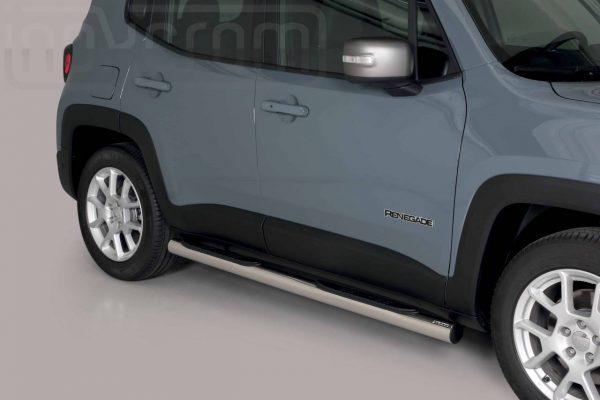 Jeep Renegade 2018 2019 - Csőküszöb, műanyag betéttel - mt-178
