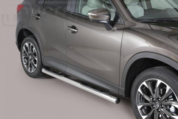Mazda Cx5 2015 2016 - Csőküszöb, műanyag betéttel - mt-178