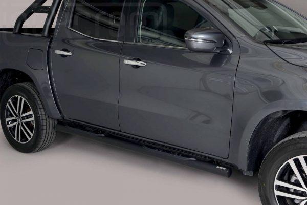 Mercedes X Class 2017 - Csőküszöb, műanyag betéttel - mt-188