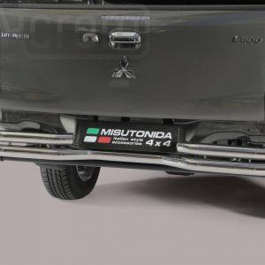 Mitsubishi L200 Double Cab 2015 2018 - Dupla csöves hajlított hátsó lökhárító - mt-105