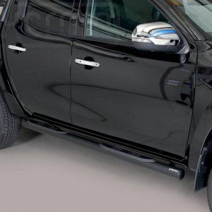 Mitsubishi L200 Double Cab 2019 - Csőküszöb, műanyag betéttel - mt-182