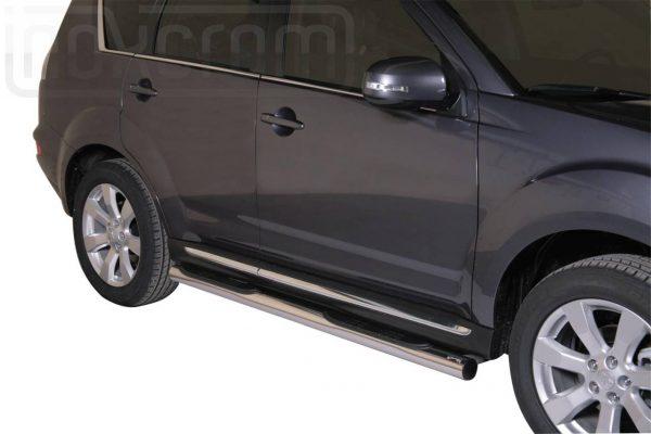 Mitsubishi Outlander 2010 2012 - Csőküszöb, műanyag betéttel - mt-178