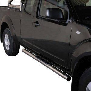 Nissan Navara King Cab 2005 - Csőküszöb, műanyag betéttel - mt-178