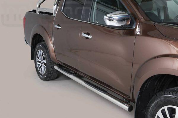 Nissan Navara Np 300 2016 - Csőküszöb, műanyag betéttel - mt-178