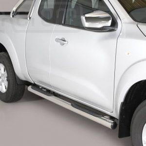 Nissan Navara Np 300 King Cab 2016 - Csőküszöb, műanyag betéttel - mt-178