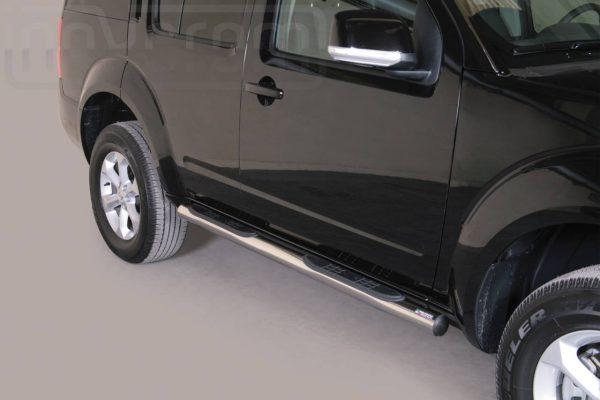 Nissan Pathfinder 2011 - Csőküszöb, műanyag betéttel - mt-178