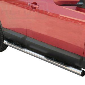 Nissan Quasquai 2007 2010 - Csőküszöb, műanyag betéttel - mt-178