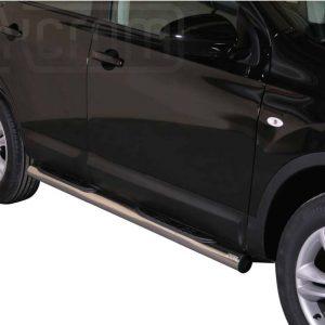 Nissan Quasquai 2010 2013 - Csőküszöb, műanyag betéttel - mt-178