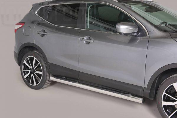 Nissan Quasquai 2014 - Csőküszöb, műanyag betéttel - mt-178