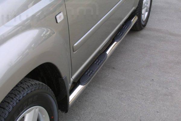 Nissan X Trail 2004 2007 - Csőküszöb, műanyag betéttel - mt-178