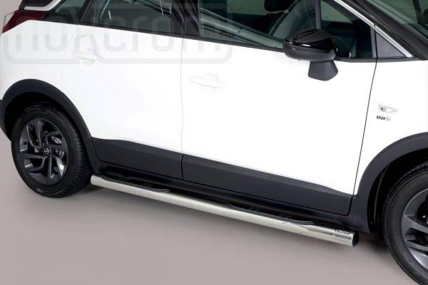Opel Crossland X 2017 - Csőküszöb, műanyag betéttel - mt-178