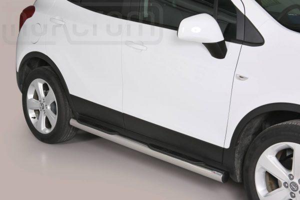 Opel Mokka 2012 2016 - Csőküszöb, műanyag betéttel - mt-178