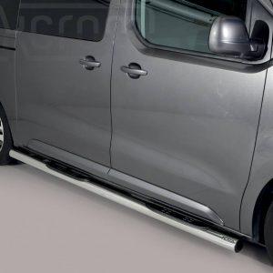 Peugeot Expert Traveller Mwb Lwb 2016 - Csőküszöb, műanyag betéttel - mt-185