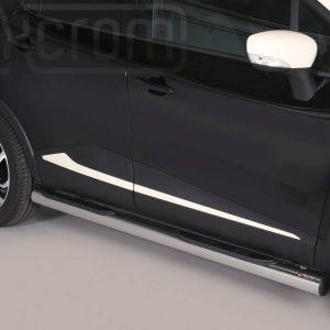 Renault Captur 2013 2017 - Csőküszöb, műanyag betéttel - mt-178