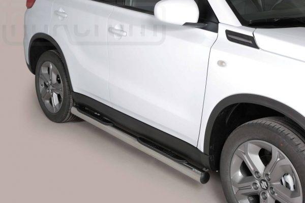 Suzuki Vitara 2015 2018 - Csőküszöb, műanyag betéttel - mt-178