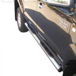 Toyota Hi Lux Double Cab 2006 2011 - Csőküszöb, műanyag betéttel - mt-178