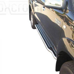 Toyota Hi Lux Double Cab 2006 2011 - Lemezbetétes oldalfellépő - mt-221