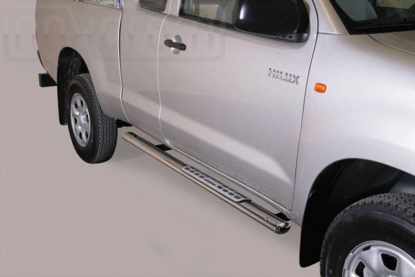 Toyota Hi Lux Double Cab 2011 2015 - ovális oldalfellépő betéttel - mt-111