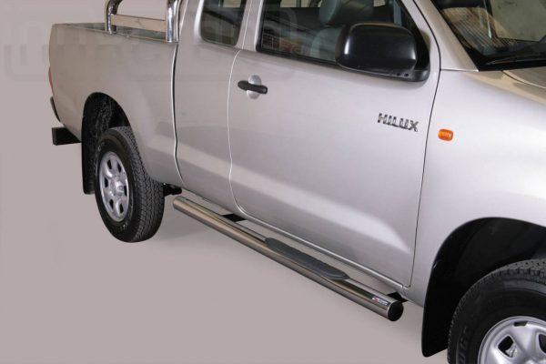 Toyota Hi Lux Double Cab 2011 2015 - Csőküszöb, műanyag betéttel - mt-178