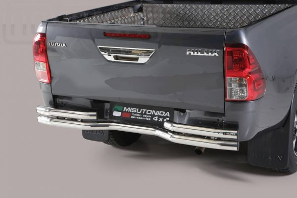 Toyota Hi Lux Double Cab 2016 2018 - Dupla csöves hajlított hátsó lökhárító - mt-105