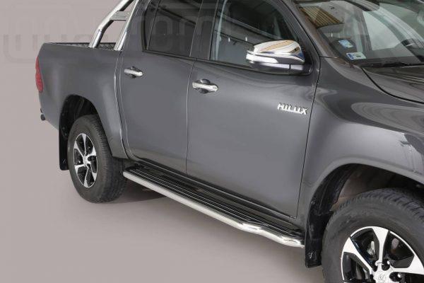 Toyota Hi Lux Double Cab 2016 2018 - Lemezbetétes oldalfellépő - mt-221