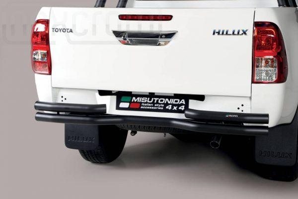 Toyota Hi Lux Double Cab 2019 - Dupla csöves hajlított hátsó lökhárító - mt-109