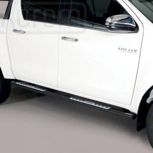 Toyota Hi Lux Double Cab 2019 - ovális oldalfellépő betéttel - mt-118