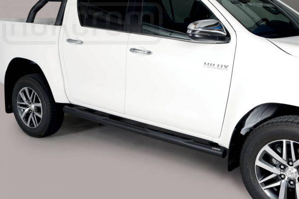 Toyota Hi Lux Double Cab 2019 - Csőküszöb, műanyag betéttel - mt-184