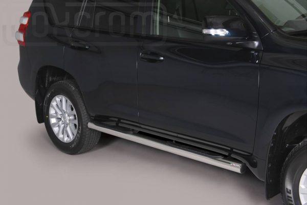 Toyota Land Cruiser 150 5 Ajtos 2014 2017 - Csőküszöb, műanyag betéttel - mt-178