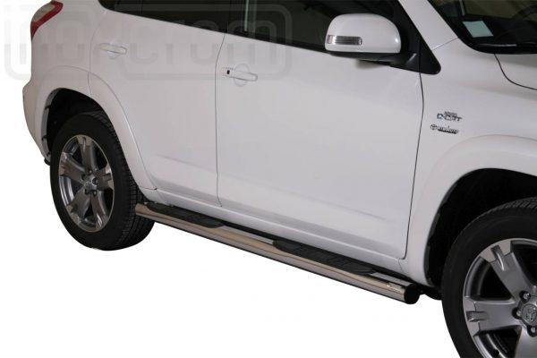 Toyota Rav 4 2010 2012 - Csőküszöb, műanyag betéttel - mt-178