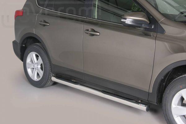 Toyota Rav 4 2013 2015 - Csőküszöb, műanyag betéttel - mt-178