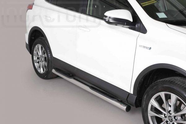 Toyota Rav 4 Hybrid 2016 2018 - Csőküszöb, műanyag betéttel - mt-178